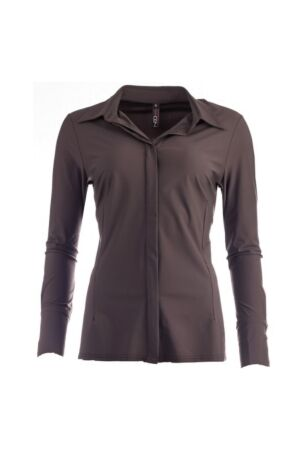NED Dames blouse lm kort NED 20w1-u100-12 coffe 606