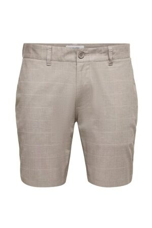 Only and Sons Heren broek bermuda Only and Sons 22020475 chinchila