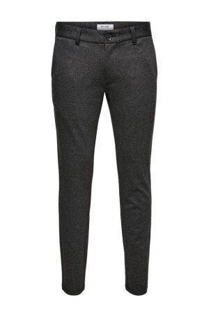Only and Sons Heren broek strak Only and Sons 22017713 dark grey melange