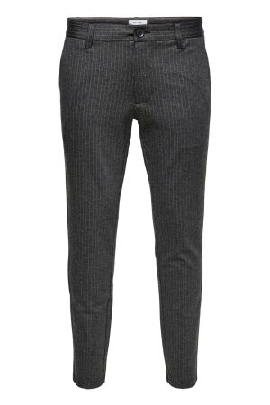 Only and Sons Heren broek pantalon  Only and Sons 22013727 Dark Grey Malange