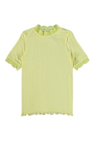 Name It Meisjes shirt km ronde hals kort Name It 13189198 yellow pear